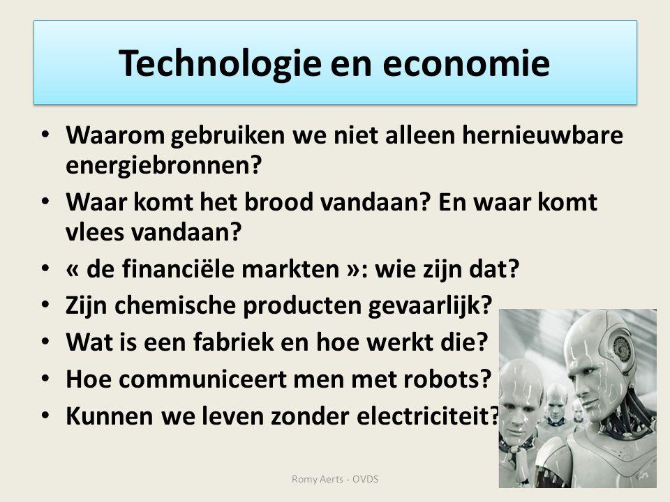 Technologie en economie • Waarom gebruiken we niet alleen hernieuwbare energiebronnen? • Waar komt het brood vandaan? En waar komt vlees vandaan? • «