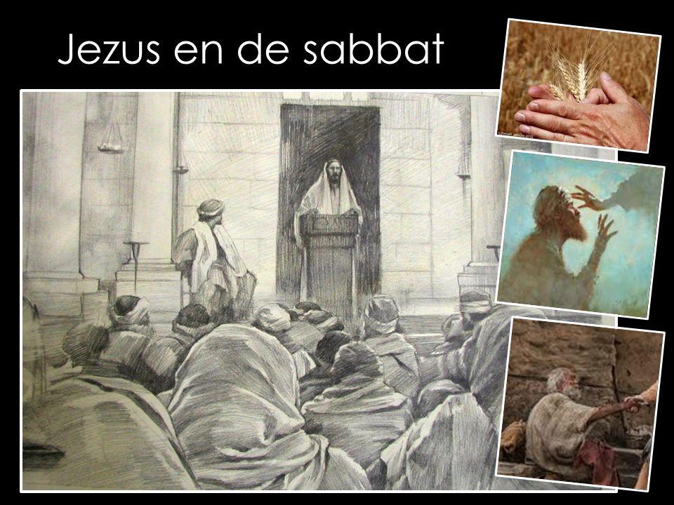 Hij kwam ook in Nazaret, waar hij was opgegroeid, en volgens zijn gewoonte ging hij op sabbat naar de synagoge.(…) op sabbat naar de synagoge.(…) 'De Geest van de Heer rust op mij, want hij heeft mij gezalfd.