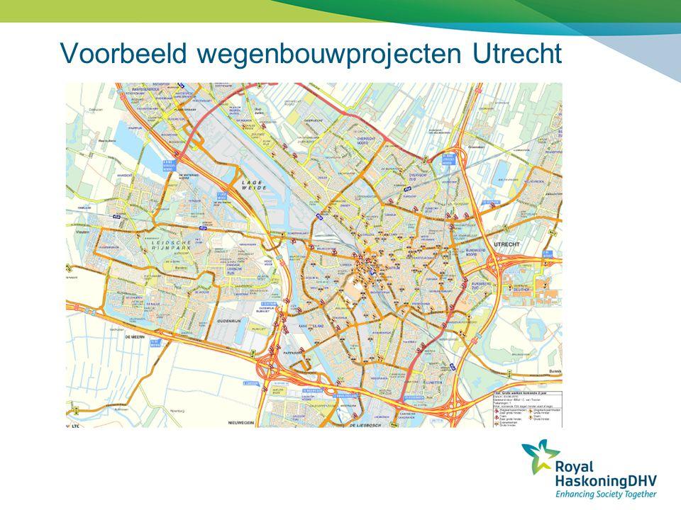 Voorbeeld wegenbouwprojecten Utrecht