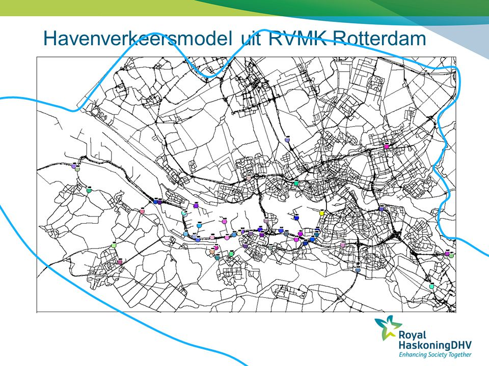 Havenverkeersmodel uit RVMK Rotterdam