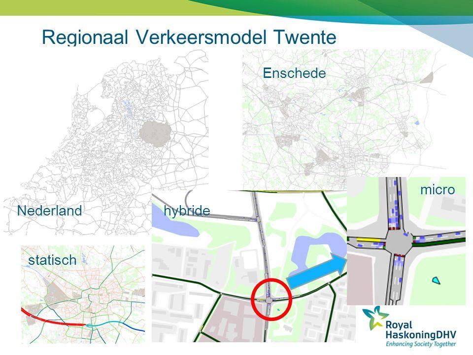 Regionaal Verkeersmodel Twente Nederland Enschede statisch hybride micro