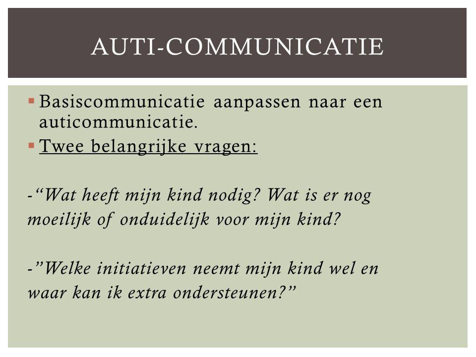  Basiscommunicatie aanpassen naar een auticommunicatie.