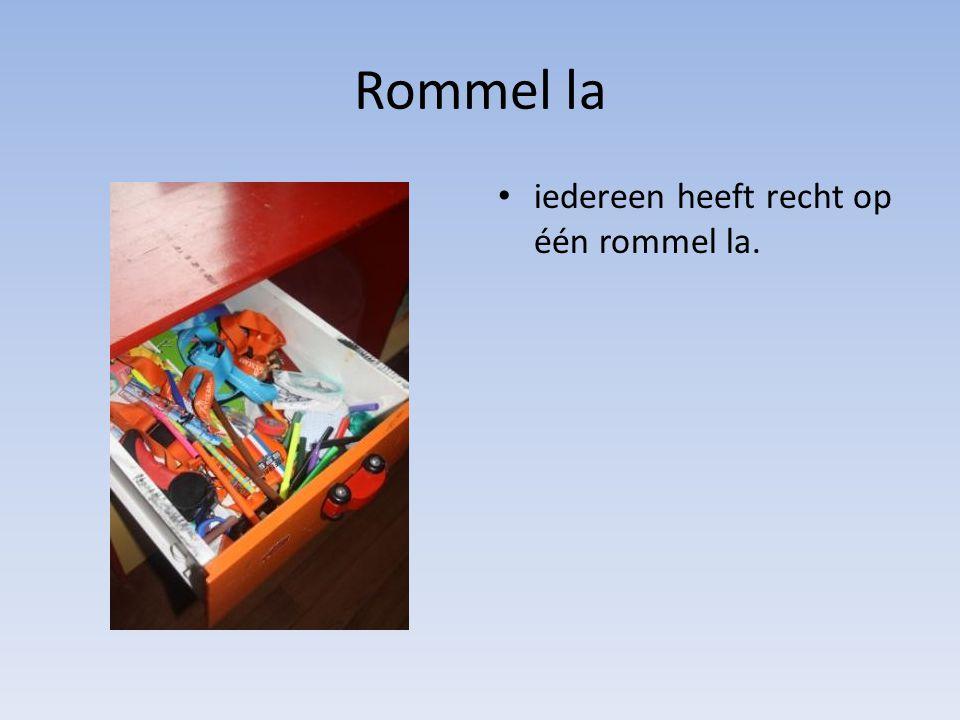 Rommel la • iedereen heeft recht op één rommel la.