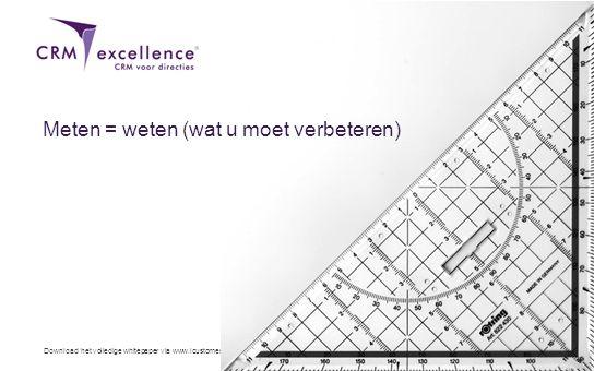 Download het volledige whitepaper via www.icustomer.nl Meten = weten (wat u moet verbeteren)