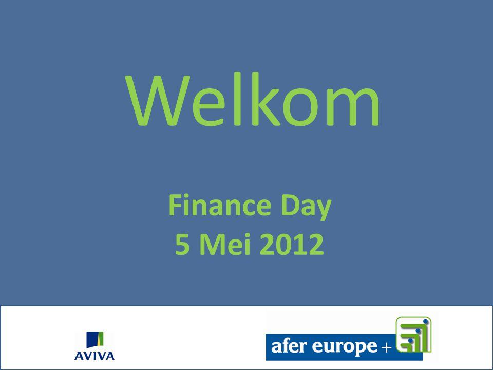 Finance Day 5 Mei 2012 Welkom Christophe REGOUT
