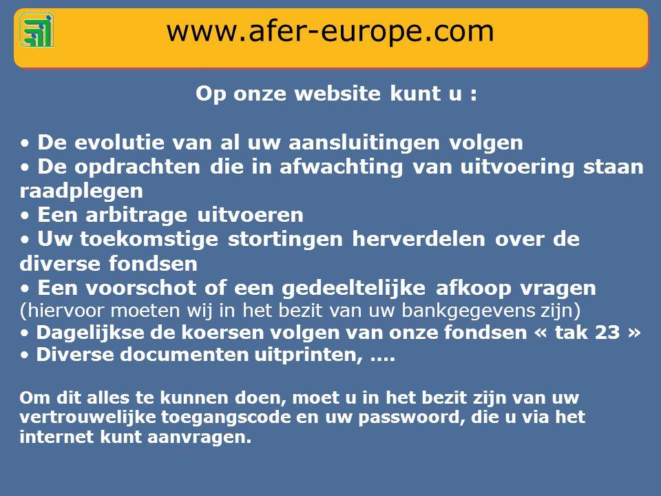 Maak gebruik van onze website www.afer-europe.com