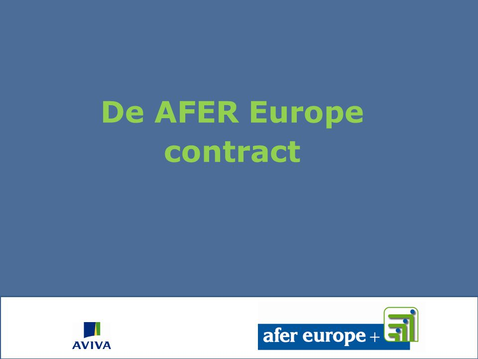De AFER Europe contract