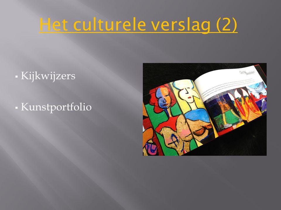  Kijkwijzers  Kunstportfolio Het culturele verslag (2)