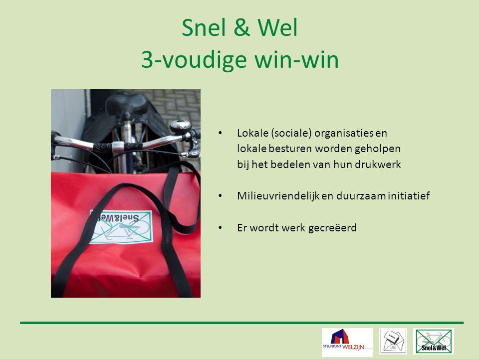 4 Snel & Wel 3-voudige win-win • Lokale (sociale) organisaties en lokale besturen worden geholpen bij het bedelen van hun drukwerk • Milieuvriendelijk