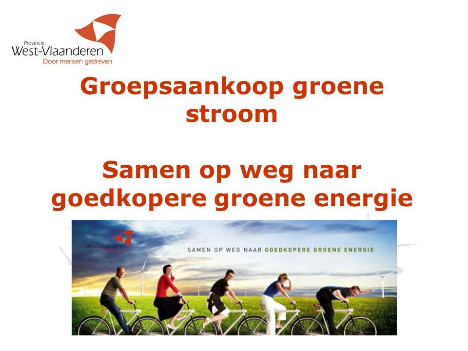 Groepsaankoop groene stroom Samen op weg naar goedkopere groene energie