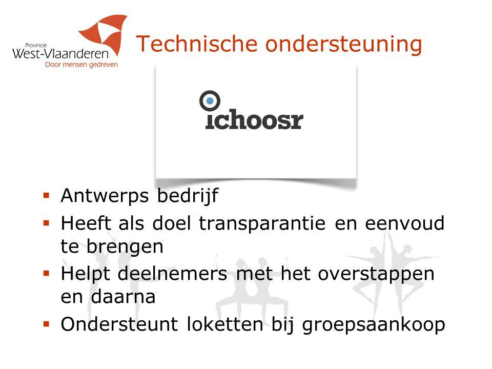 Technische ondersteuning  Antwerps bedrijf  Heeft als doel transparantie en eenvoud te brengen  Helpt deelnemers met het overstappen en daarna  On