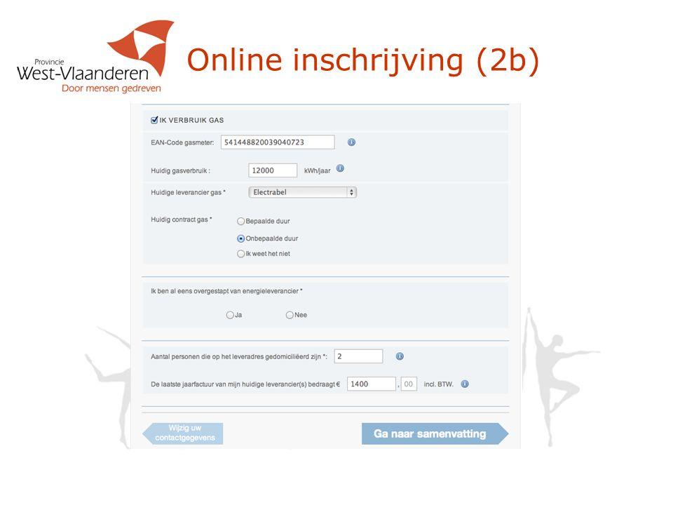Online inschrijving (2b)