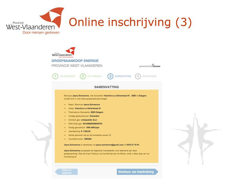 Online inschrijving (3)