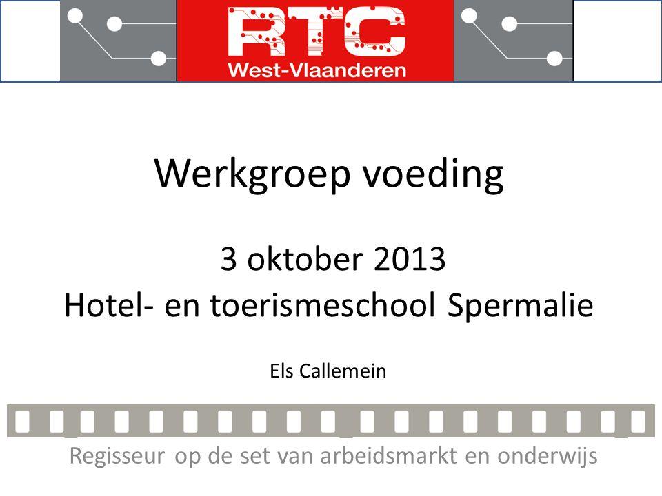 Regisseur op de set van arbeidsmarkt en onderwijs Projectvoorstellen 2014 • Educatieve filmpjes In samenwerking met IPV en de Landsbond voor Beenhouwers en Spekslagers.