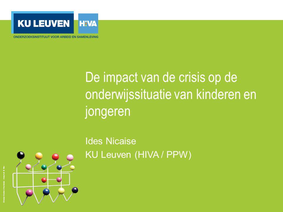 Design Charles & Ray Eames - Hang it all © Vitra De impact van de crisis op de onderwijssituatie van kinderen en jongeren Ides Nicaise KU Leuven (HIVA / PPW)