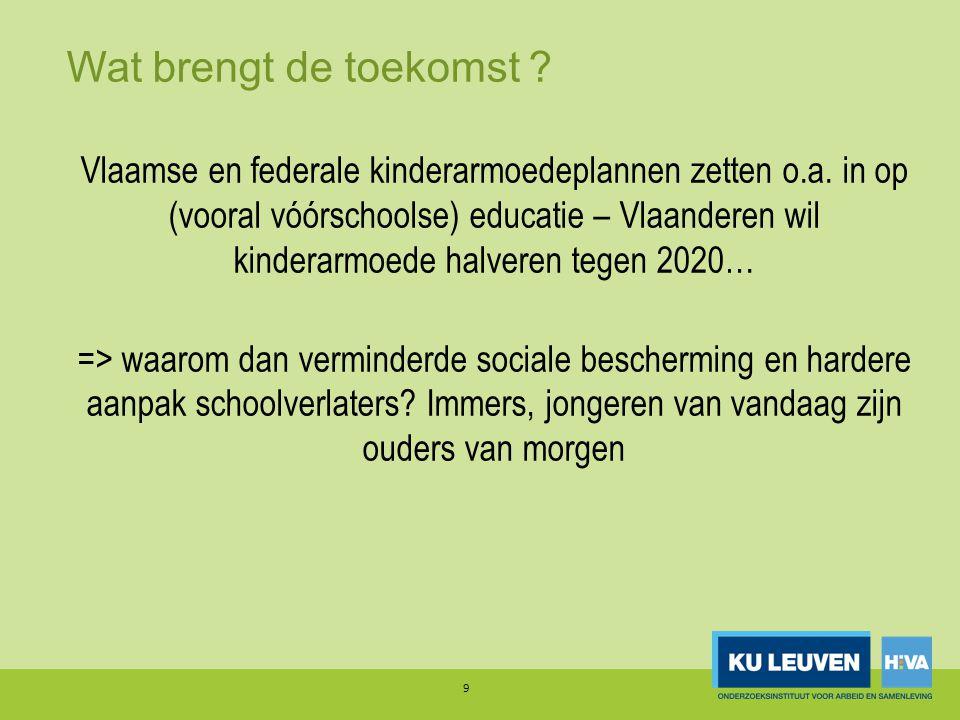 Wat brengt de toekomst . Vlaamse en federale kinderarmoedeplannen zetten o.a.