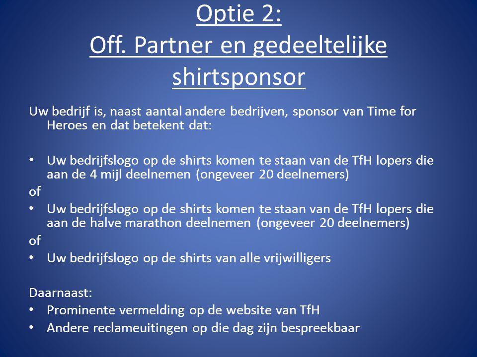 Optie 2: Off.