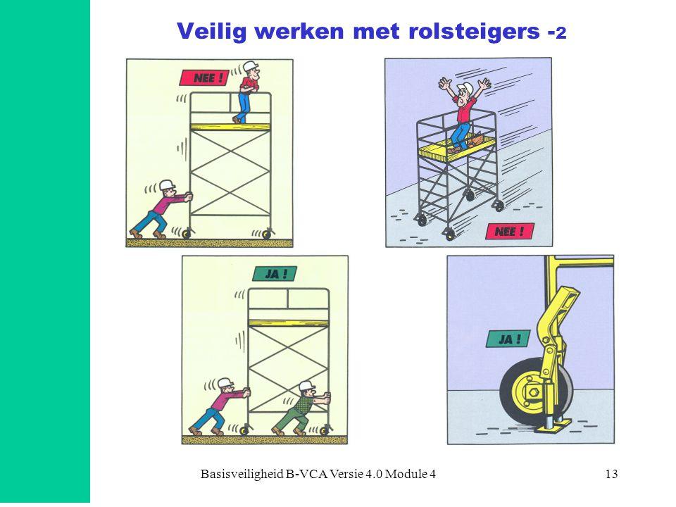Basisveiligheid B-VCA Versie 4.0 Module 413 Veilig werken met rolsteigers - 2