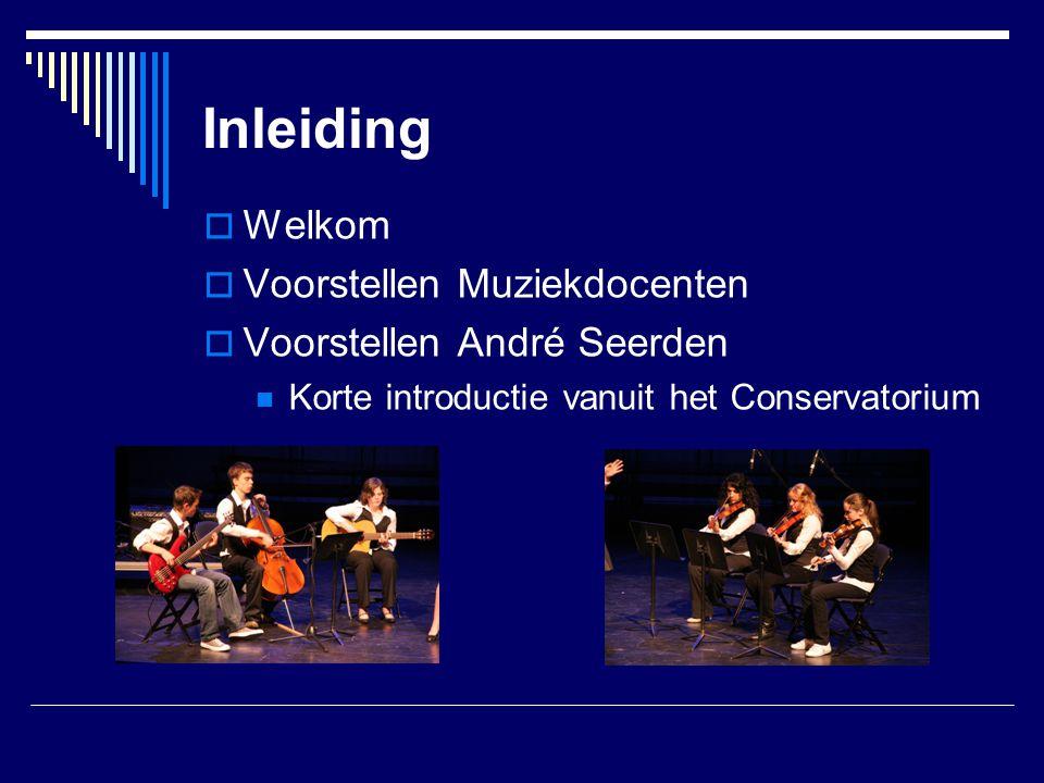 Voorwaarden audities  Nieuwe brugklassers beoordeeld op:  Vocale en/of Instrumentale vaardigheden  Muziekstuk dat het niveau van de leerling goed vertegenwoordigd (eigen keuze: zeker niet te gemakkelijk, maar ook niet te moeilijk)  Eenvoudige gehoor/solfège test  Nazingen van een eenvoudige melodie  Opschrijven van een eenvoudig ritme  Herkennen van melodische bewegingen