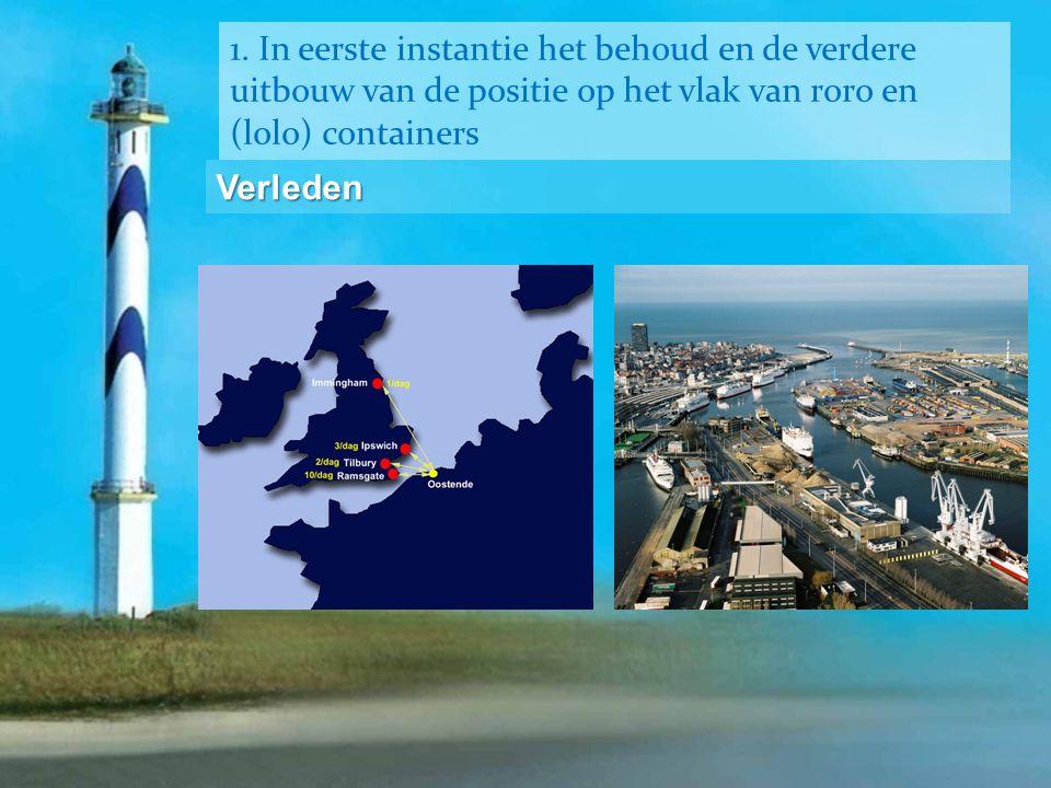 1. In eerste instantie het behoud en de verdere uitbouw van de positie op het vlak van roro en (lolo) containers Verleden