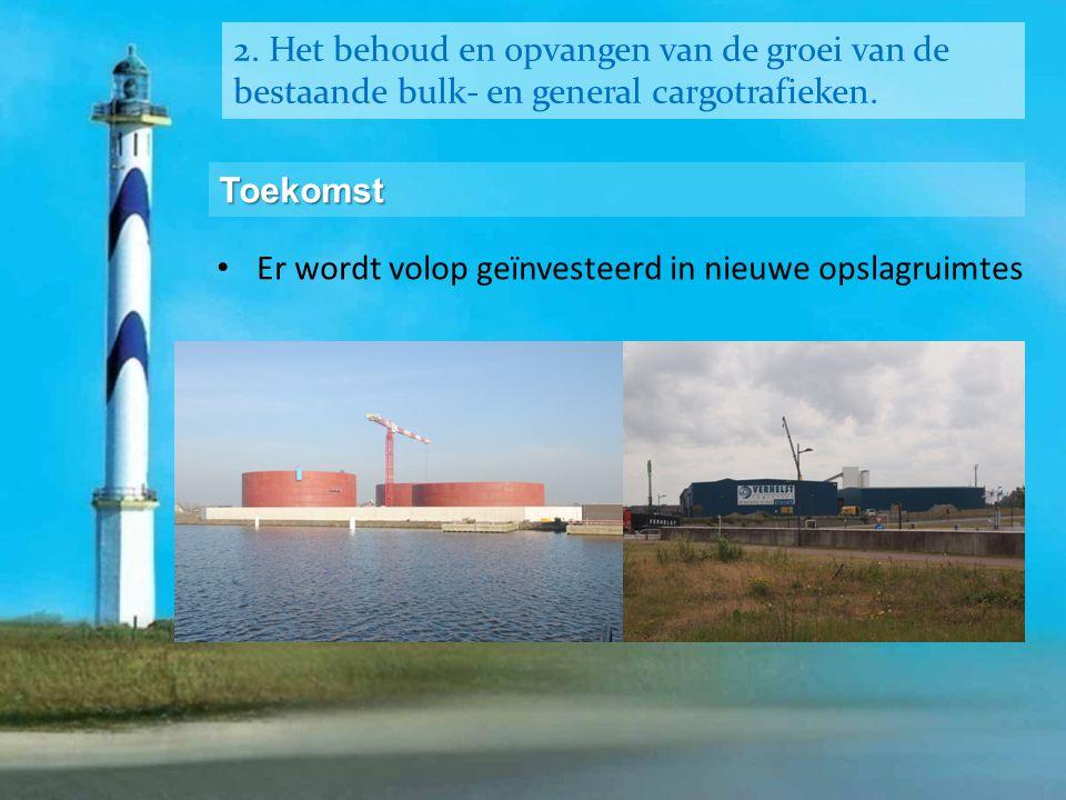 2. Het behoud en opvangen van de groei van de bestaande bulk- en general cargotrafieken.