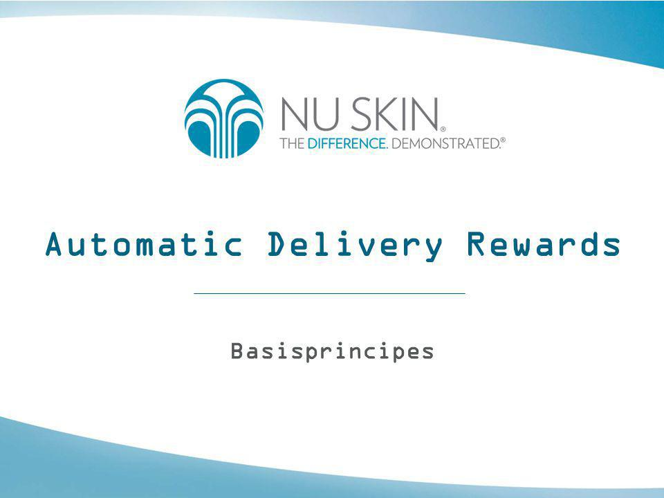 Automatic Delivery Rewards Basisprincipes