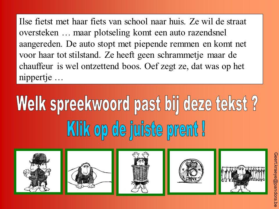 Geert.kraeye@pandora.be Jurgen en Andy hebben de boekentas van Els goed verstopt.