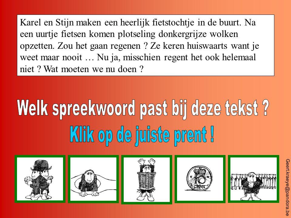 Geert.kraeye@pandora.be Ilse fietst met haar fiets van school naar huis.