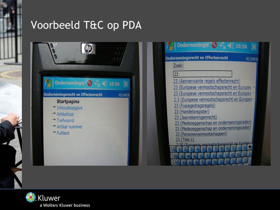 Voorbeeld T&C op PDA