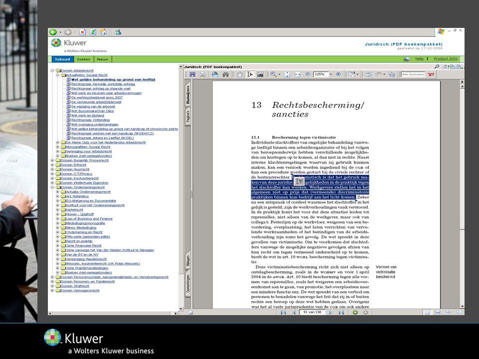 (2) Kluwer eBooks Alle onderwijsboeken op kluwerebooks.nl (via webbrowser):