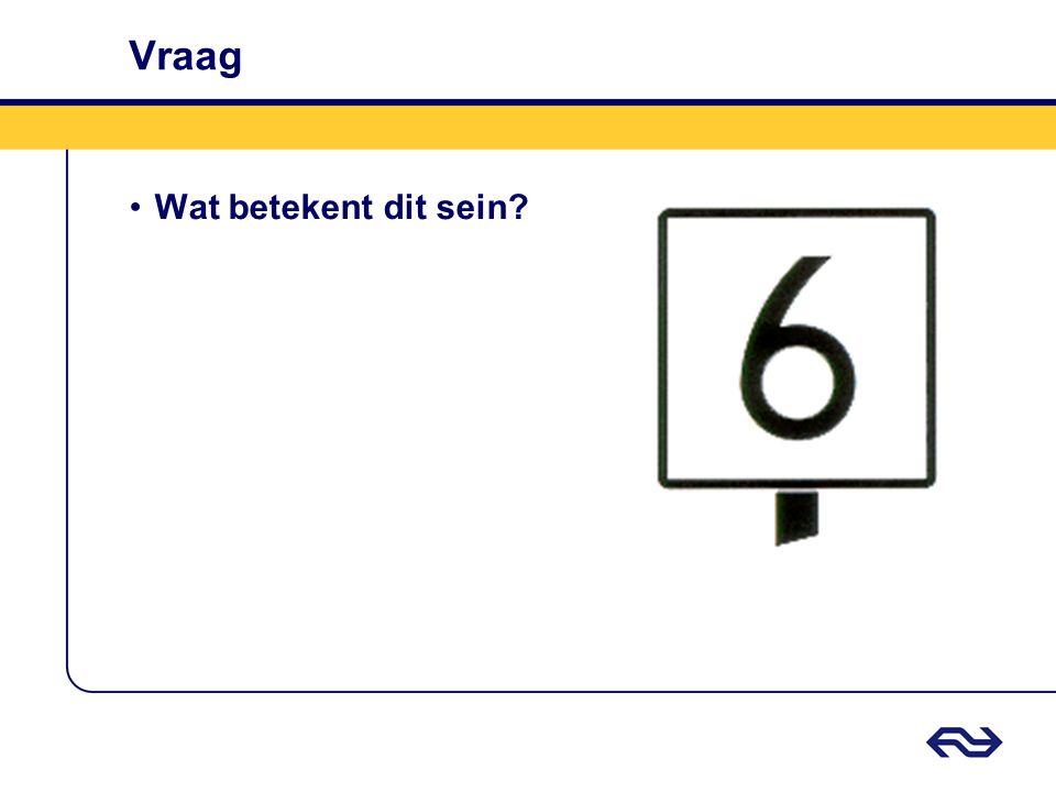 Antwoord Entreesnelheidsbord •Rijden toegestaan met ten hoogste de door het getal aangeven snelheid.