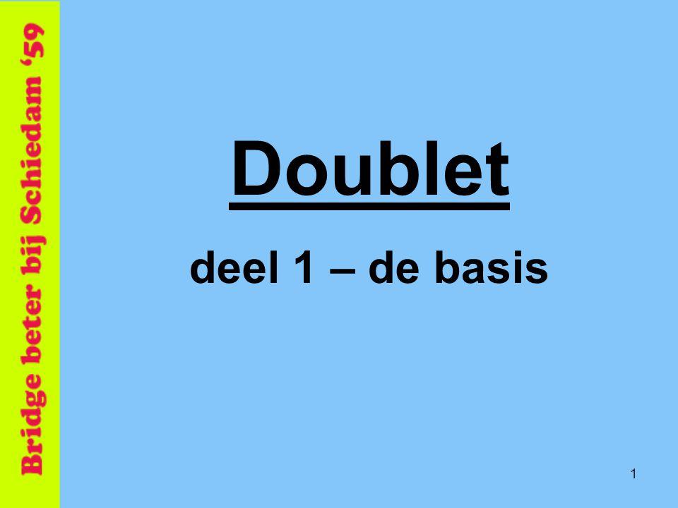 22 Je hebt (alleen) kleur tegenpartij.Antwoorden Informatie DBL => Beste 3 kaart (moet bieden).