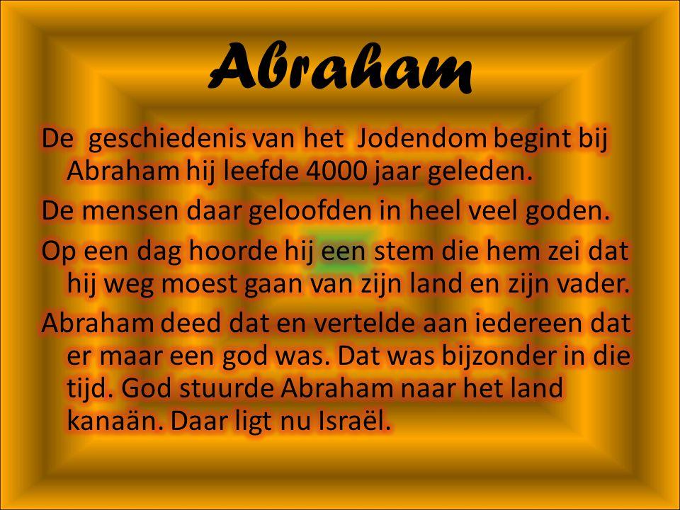 Indeling • Abraham • De Thora • Hoe bidden Joden? • Feesten • Eindwoord