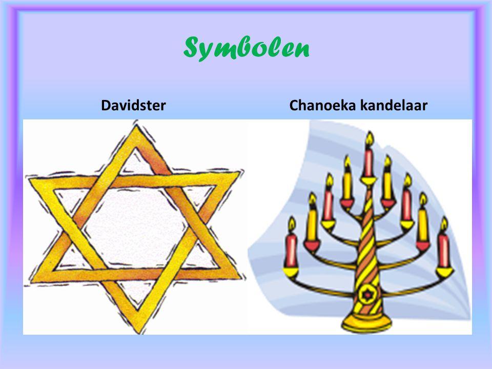 Symbolen DavidsterChanoeka kandelaar