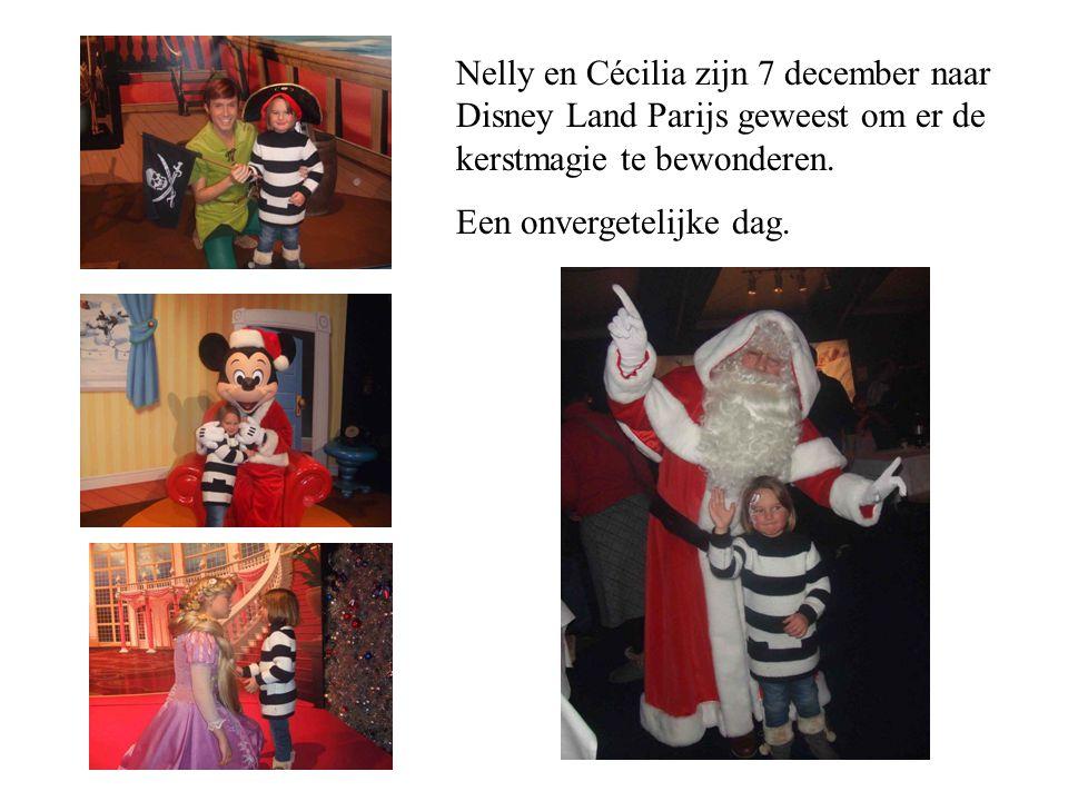 Nelly en Cécilia zijn 7 december naar Disney Land Parijs geweest om er de kerstmagie te bewonderen.