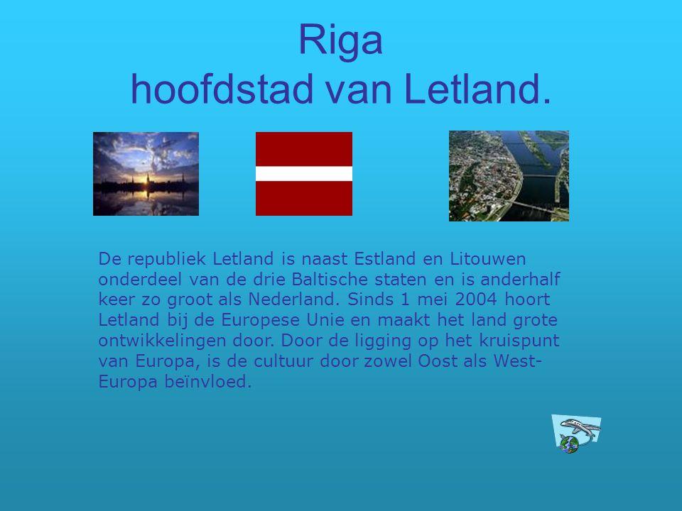 Riga hoofdstad van Letland. De republiek Letland is naast Estland en Litouwen onderdeel van de drie Baltische staten en is anderhalf keer zo groot als