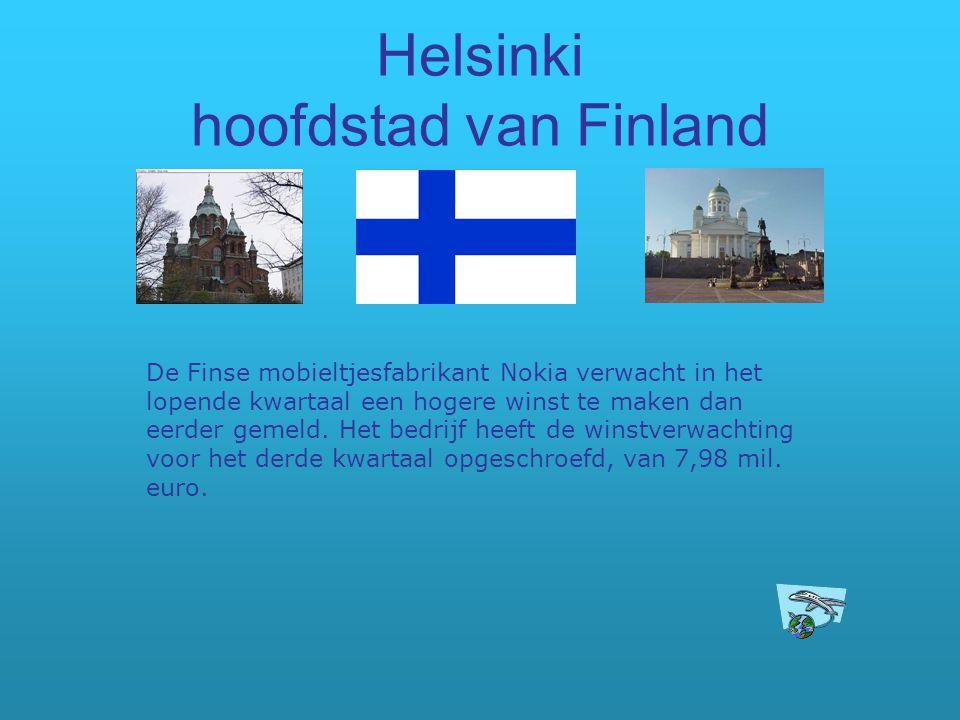 Helsinki hoofdstad van Finland De Finse mobieltjesfabrikant Nokia verwacht in het lopende kwartaal een hogere winst te maken dan eerder gemeld. Het be