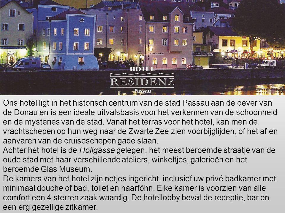 """Onze verblijfplaats """"PASSAU"""", drie-rivierenstad. Het mooiste zicht op Passau is natuurlijk dat vanaf het water. Wie met de boot dit fraaie, op een sma"""