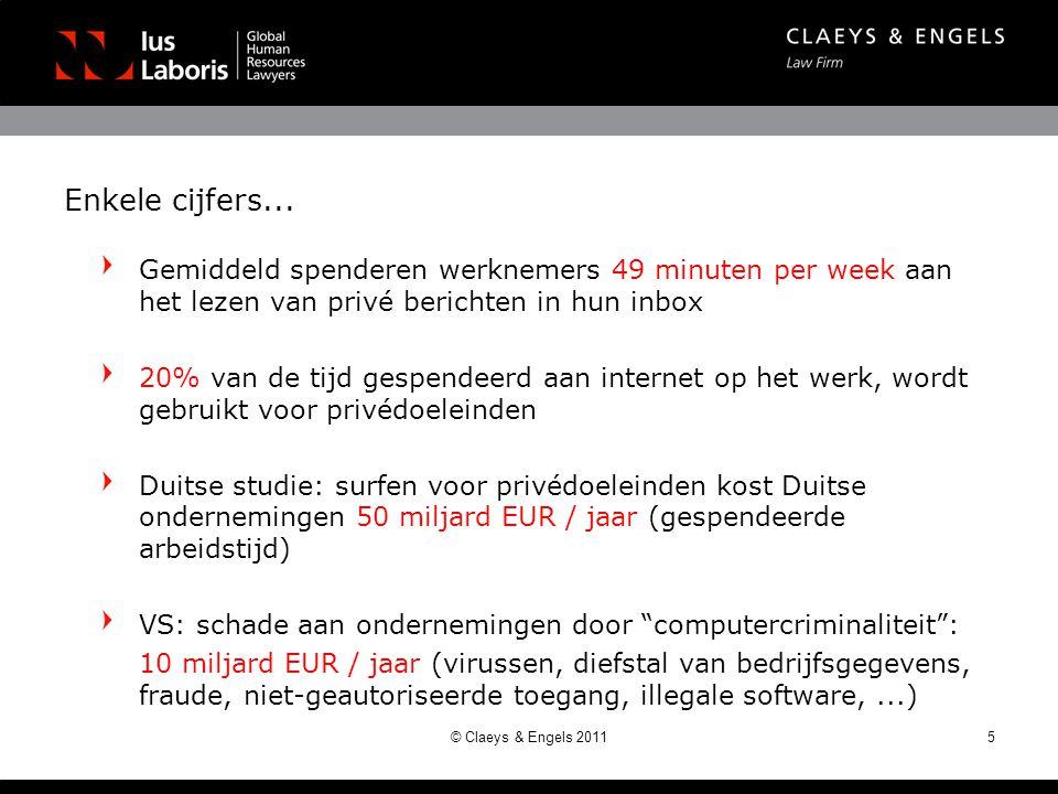 Enkele cijfers... Gemiddeld spenderen werknemers 49 minuten per week aan het lezen van privé berichten in hun inbox 20% van de tijd gespendeerd aan in
