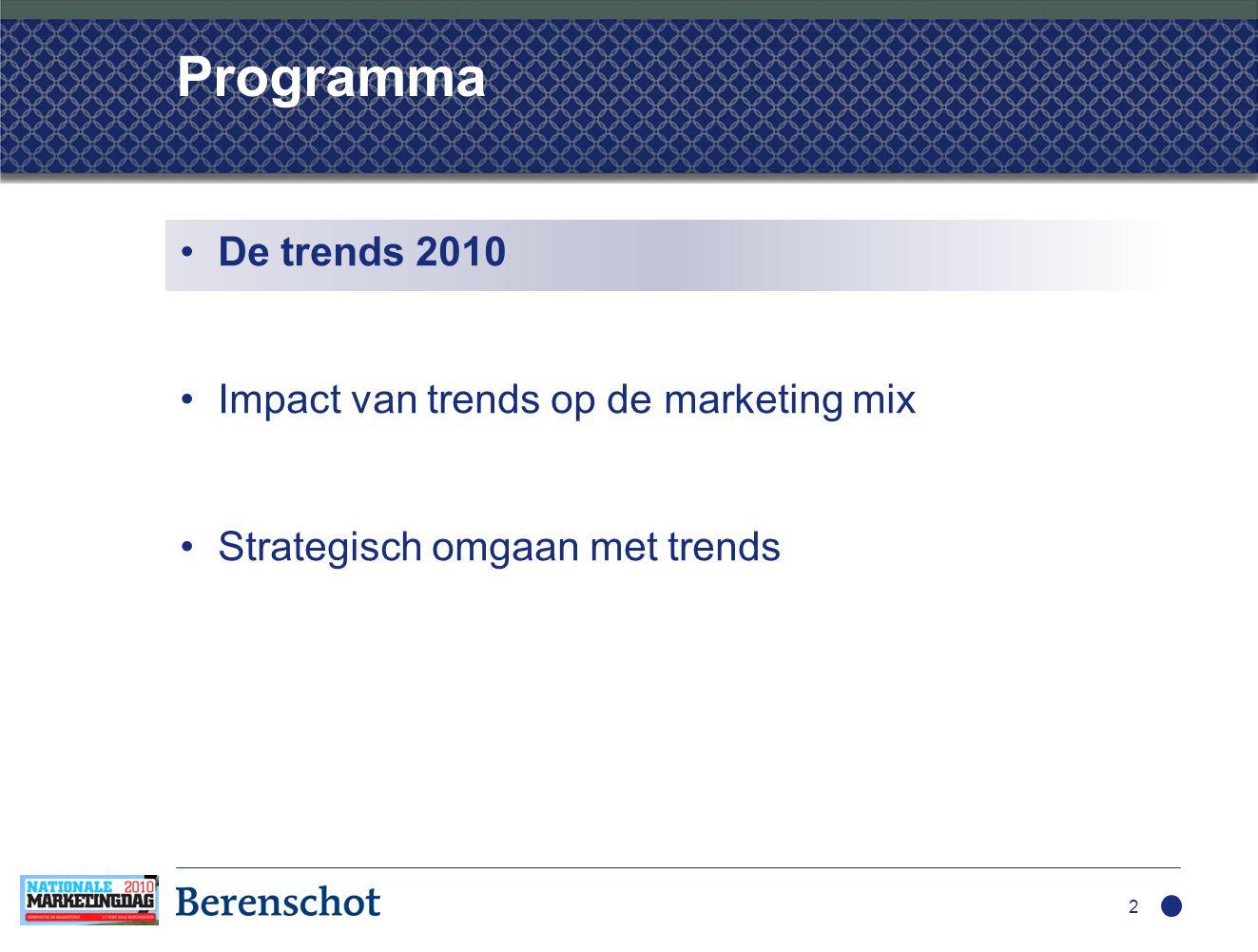 Trendsonderzoek: opzet  5 vragen gesteld…  … aan duizenden marketeers  Resultaat: honderden antwoorden 3