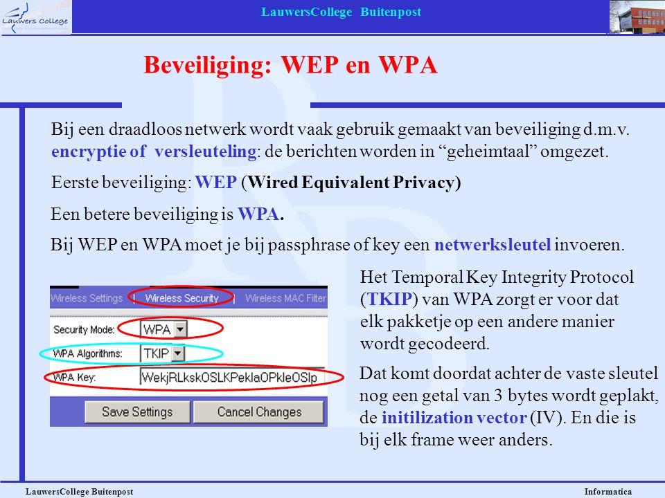 LauwersCollege Buitenpost LauwersCollege Buitenpost Informatica Inloggen op een draadloos netwerk Kies Instellingen of Configuratiescherm, en ga naar Netwerkverbindingen.