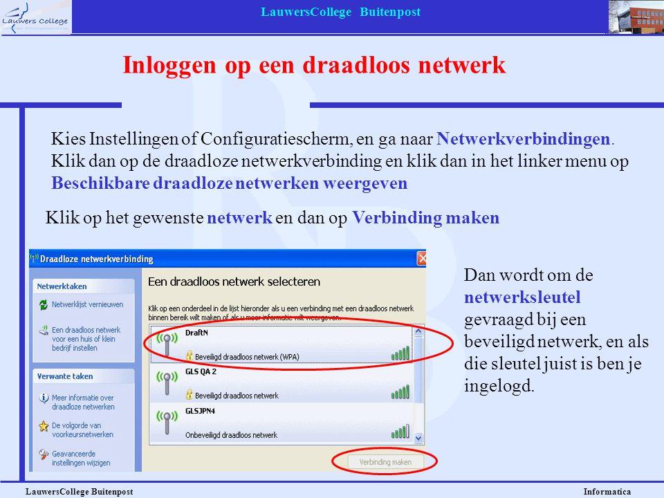 LauwersCollege Buitenpost LauwersCollege Buitenpost Informatica Het access point configureren Het access point kun je alleen via een pc benaderen, dit kan door de browser op de pc te starten en in de adresbalk het IP-adres van het access point in te voeren, bijvoorbeeld http://192.168.10.1 Dan moet je waarschijnlijk een gebruikersnaam en een wachtwoord invoeren en daarna kun je de instellingen van het access point veranderen.
