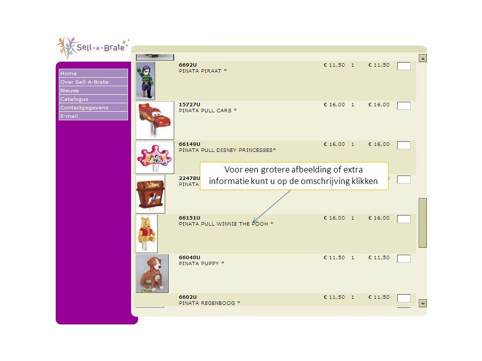 Hier vindt u overigens ook informatie over de verpakkingseenheid.