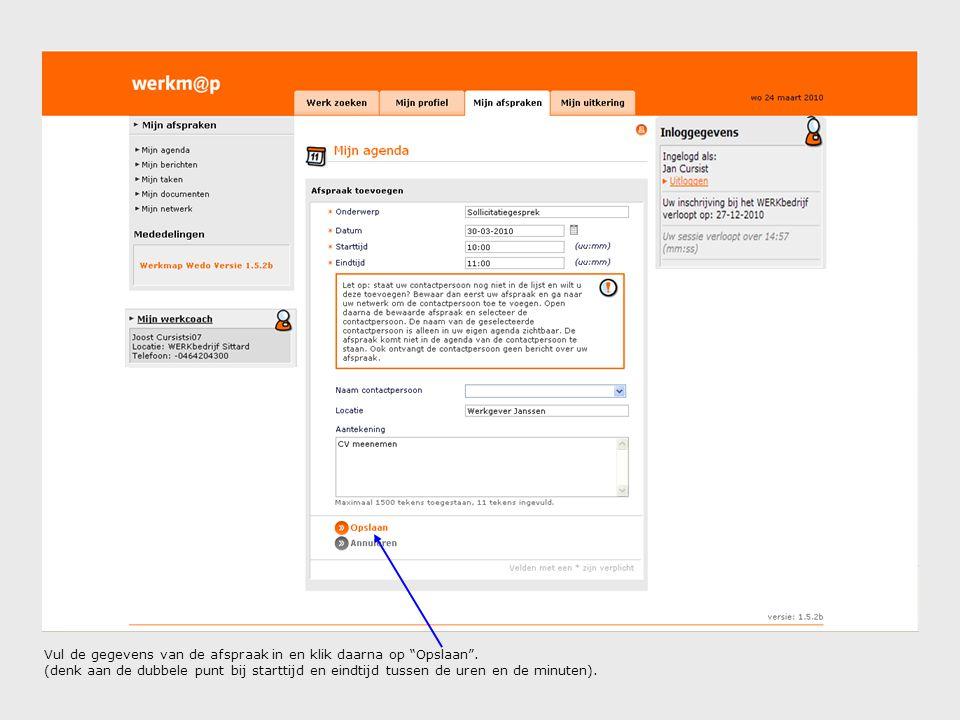 Als u het document met uw werkcoach wilt delen, kies dan voor Ja en Opslaan .