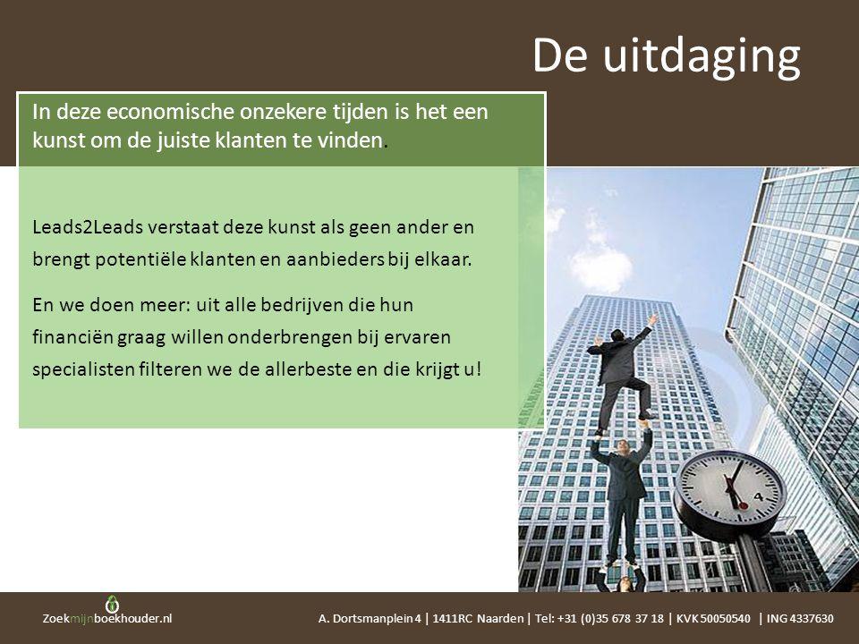Zoekmijnboekhouder.nl In deze economische onzekere tijden is het een kunst om de juiste klanten te vinden. Leads2Leads verstaat deze kunst als geen an