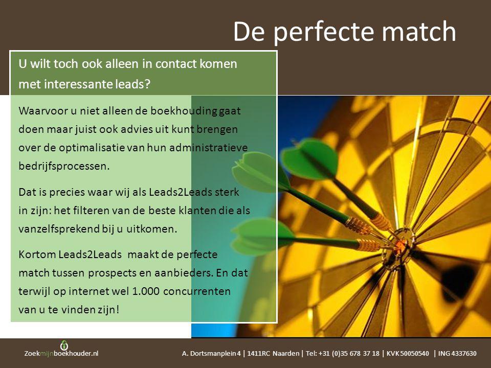 Zoekmijnboekhouder.nl De perfecte match U wilt toch ook alleen in contact komen met interessante leads? Waarvoor u niet alleen de boekhouding gaat doe
