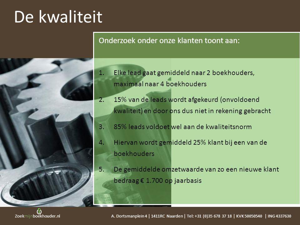Zoekmijnboekhouder.nl Onderzoek onder onze klanten toont aan: 1.Elke lead gaat gemiddeld naar 2 boekhouders, maximaal naar 4 boekhouders 2.15% van de