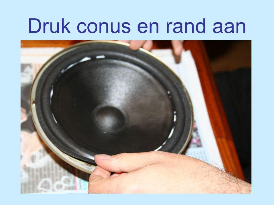 © Good Hifi 2007 Druk conus en rand aan