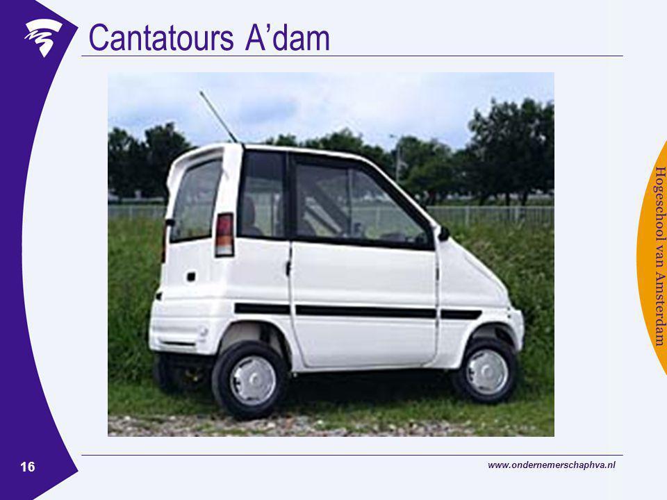 www.ondernemerschaphva.nl 16 Cantatours A'dam