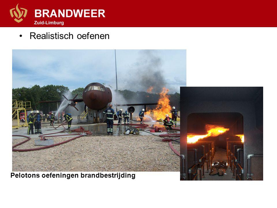 •Realistisch oefenen Pelotons oefeningen brandbestrijding